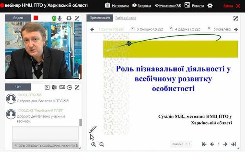 Відбувся вебінар для викладачів предметів «Економіка» та «Основи галузевої економіки і підприємництва»