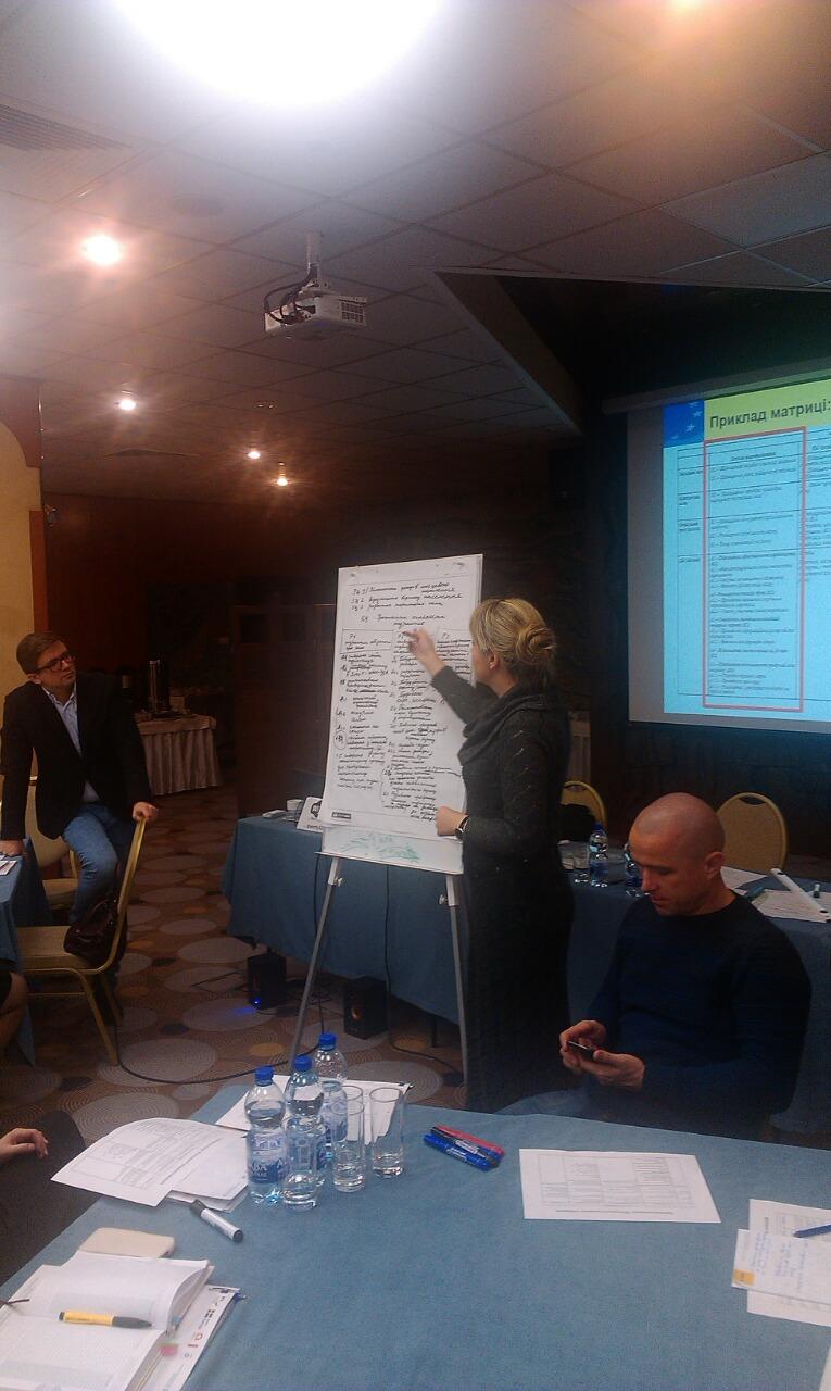 6-7 грудня 2018 року у м. Києві відбувся навчальний семінар-тренінг на тему «Розроблення проектів та управління проектним циклом»