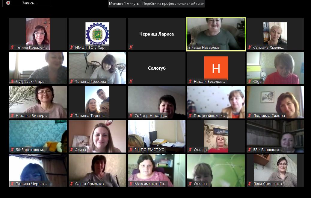 Онлайн-колоквіум на платформі Zoom для педагогічних працівників м.Харкова та Харківської області